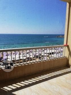 شقة للايجار مفروش - سيدى بشر - الدور ٣- رؤية للبحر بانوراما