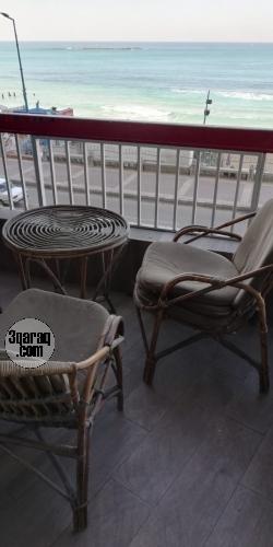 شقة للايجار مفروش - سيدى بشر - برج الشاطىء ١- الدور ٢- رؤية للبحر بانوراما