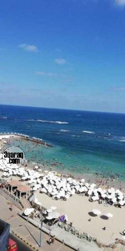 شقة فاخرة للبيع بميامى - الاسكندرية -لدور ٩- رؤية للبحر بانوراما