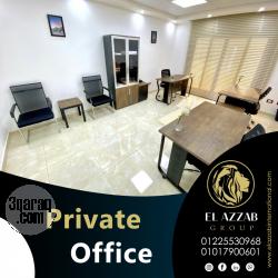 مكتب إدارى للايجار بمصر الجديدة على شارع المرغينى الرئيسى