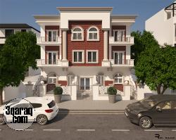 شقة بمساحة 195 متر كاملة المرافق بمقدم35% و بتسهيلات بدون فوائد بالحي الخامس الشيخ زايد